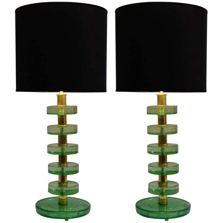 Pair of Lamps in the Style of Jacques Adnet | Table lamp