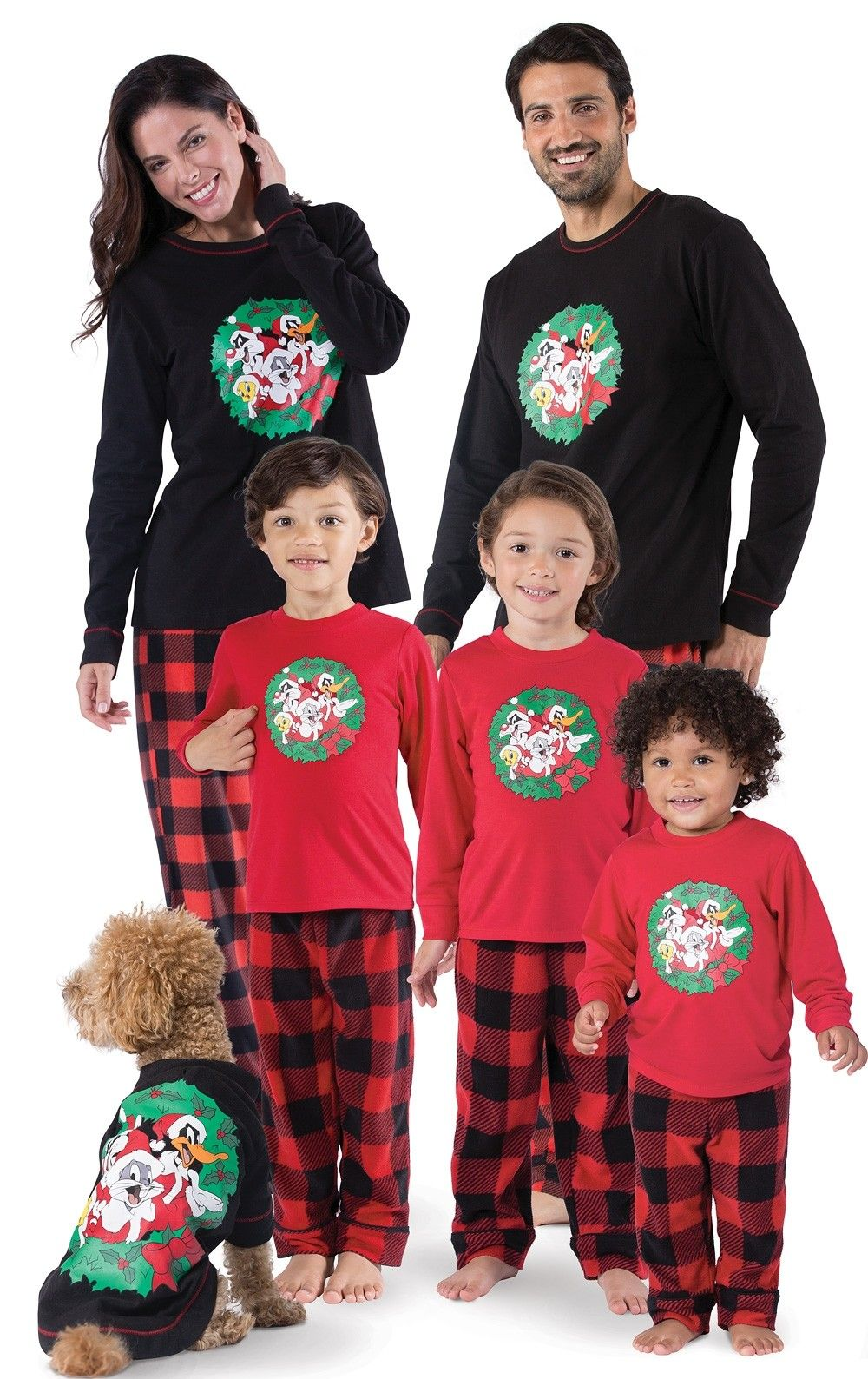 Looney Tunes Christmas Matching Family Pajamas Family