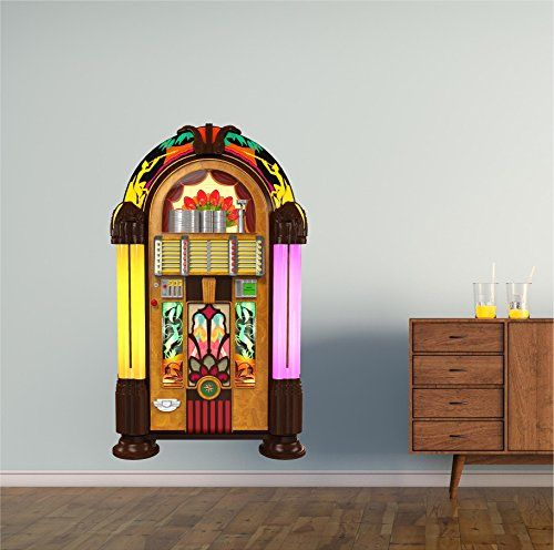 24 Juke Box 1 Wall Decal Vinyl Graphic 50s 60s 70s Music Tunes Radio Home Kids Room Man Cave Teen Bedroom Living Room Office Art Decor NEW *** Visit the image link more details.
