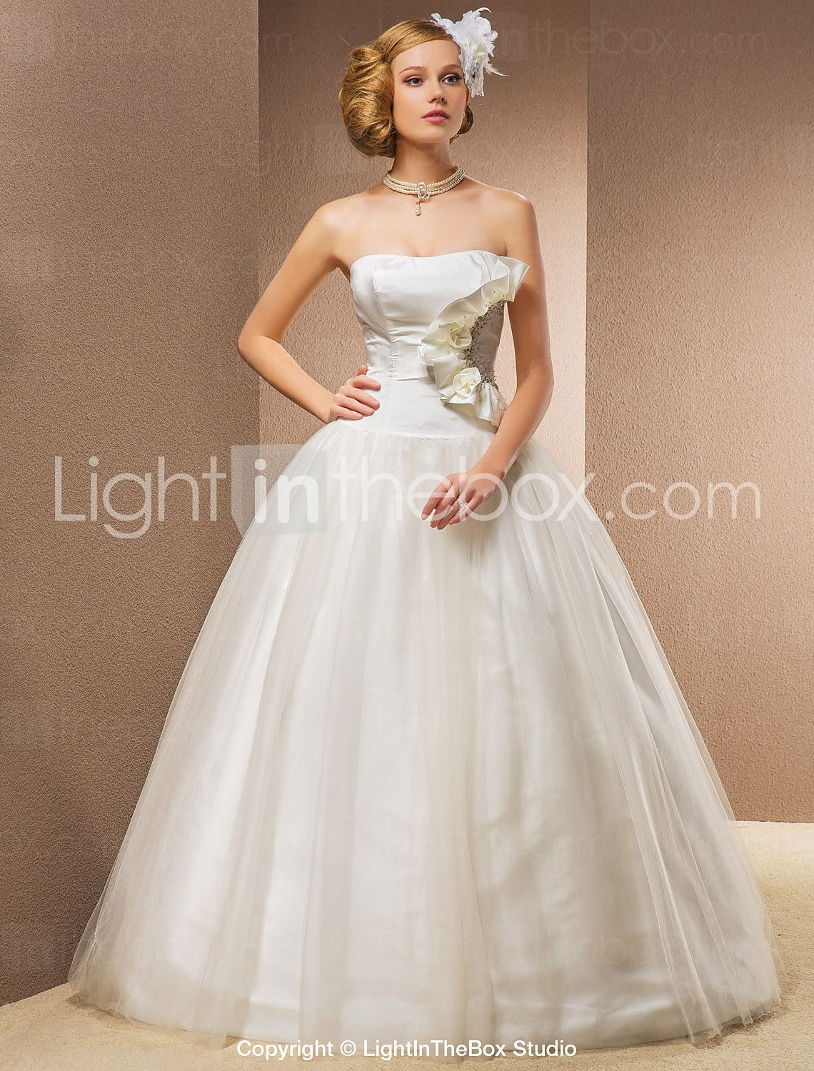 Timeless wedding dresses   Ball Gown Floorlength Taffeta And Tulle Wedding Dress With