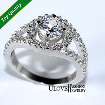 2014 New Sterling Silver Jewelry Vintage Rings for Women Crystal CZ Simulated Diamonds Fashion Acessories Engagement Ring 009