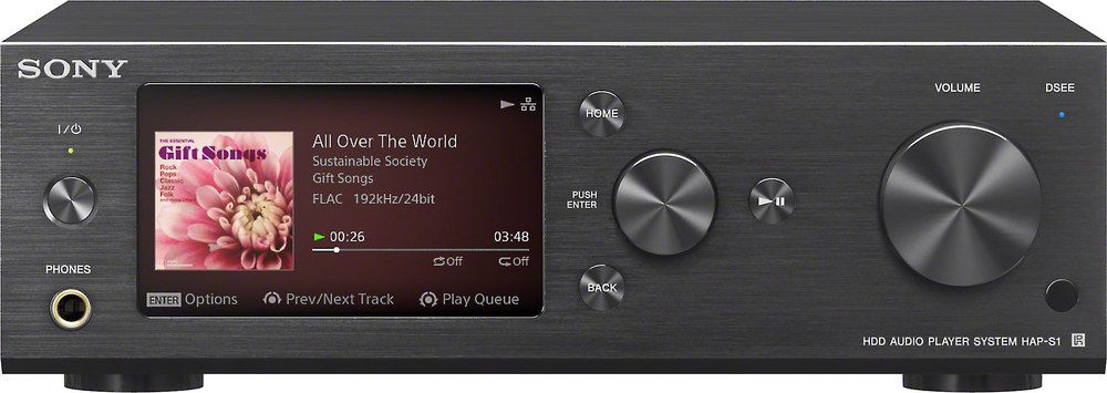 Sony Hap S1 Black High Resolution Network Music Player And Integrated Amplifier At Crutchfield Sony Electronics Sony Audio