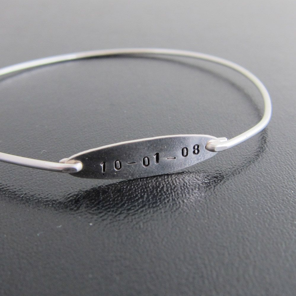 Custom Wedding Gift Wedding Date Jewelry Personalized Wedding Gift
