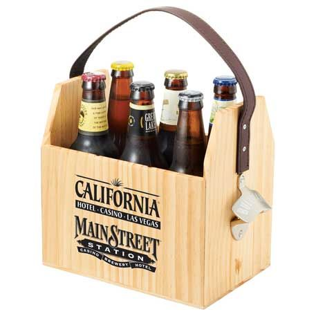 Take Your Six Pack Of Beer Or Soda With You With This Convenient Wooden Six Pack Carrier Features Include Removable Bottl Drink Carrier Six Pack Abs Wine Rack