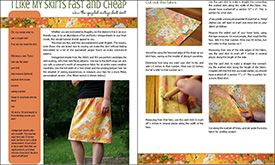 I Like My Skirts Fast and Cheap, step-by-step tutorial, @Polka Dot Cottage  Nice e-book! cheep price.