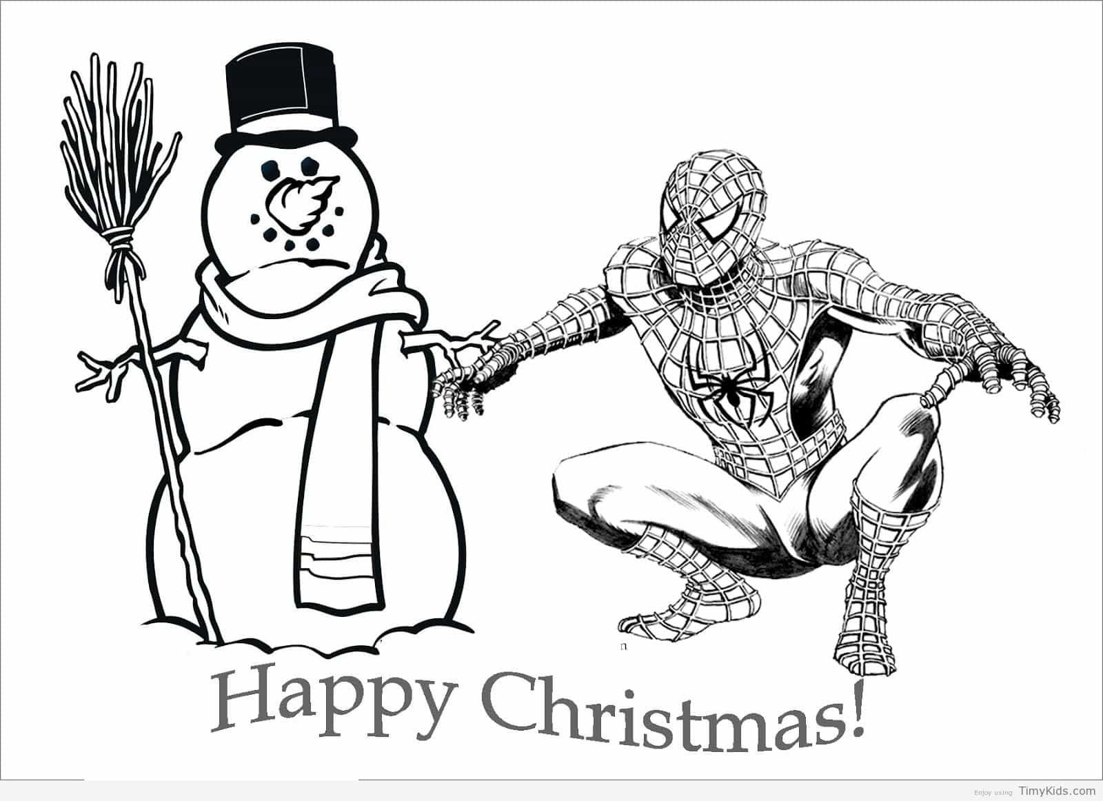 5 best images of free printable christmas cards to color spider man spider man christmas coloring pages free printable christmas thank you and free
