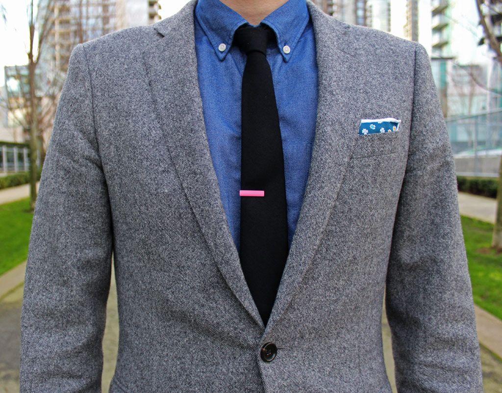 J Crew Donegal Tweed Suit The Tie Bar Black Tie And Pink