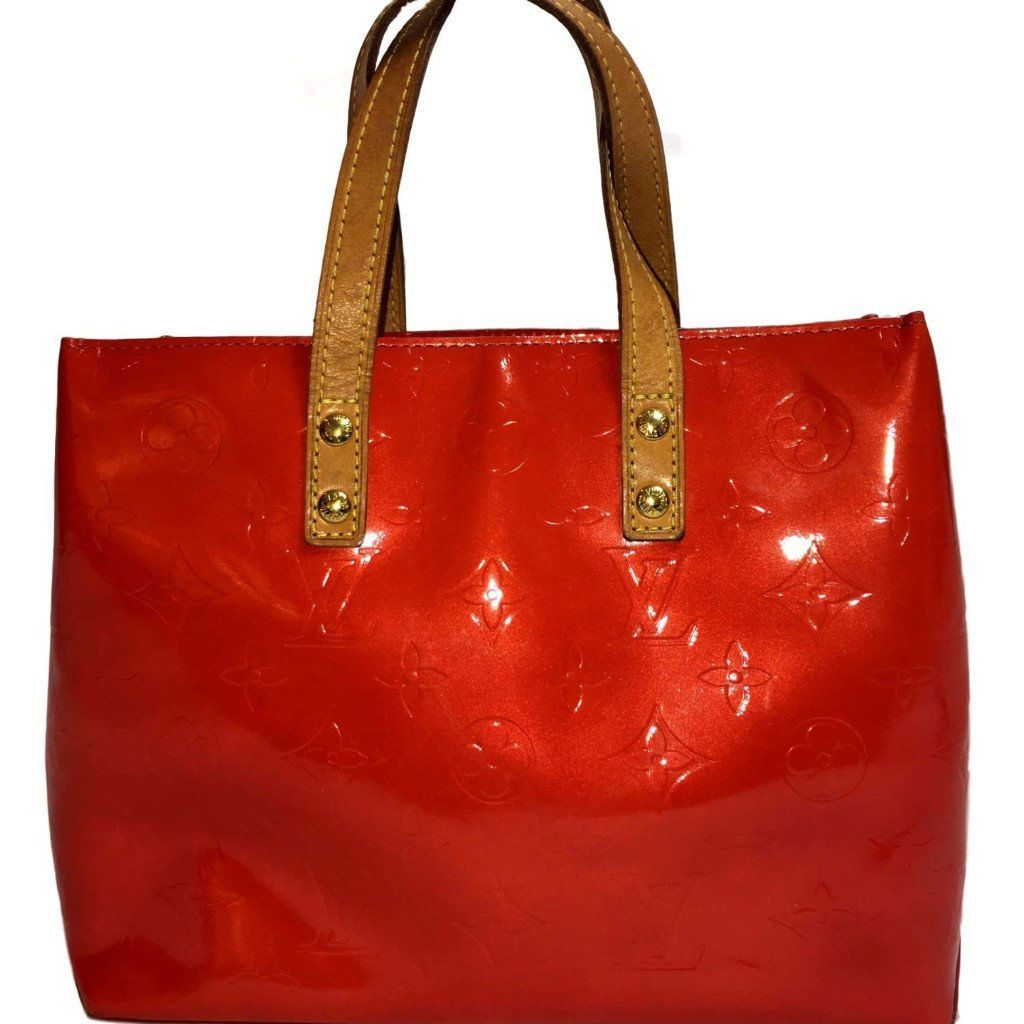 Louis Vuitton Red Vernis Reade PM Tote. Too Cute! Louis