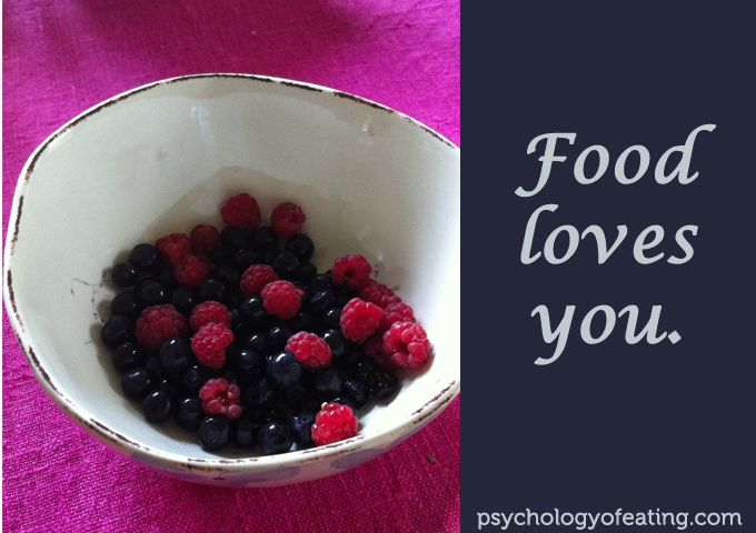 """""""Food loves you."""" #food #wellness #inspiration #quotes # ..."""