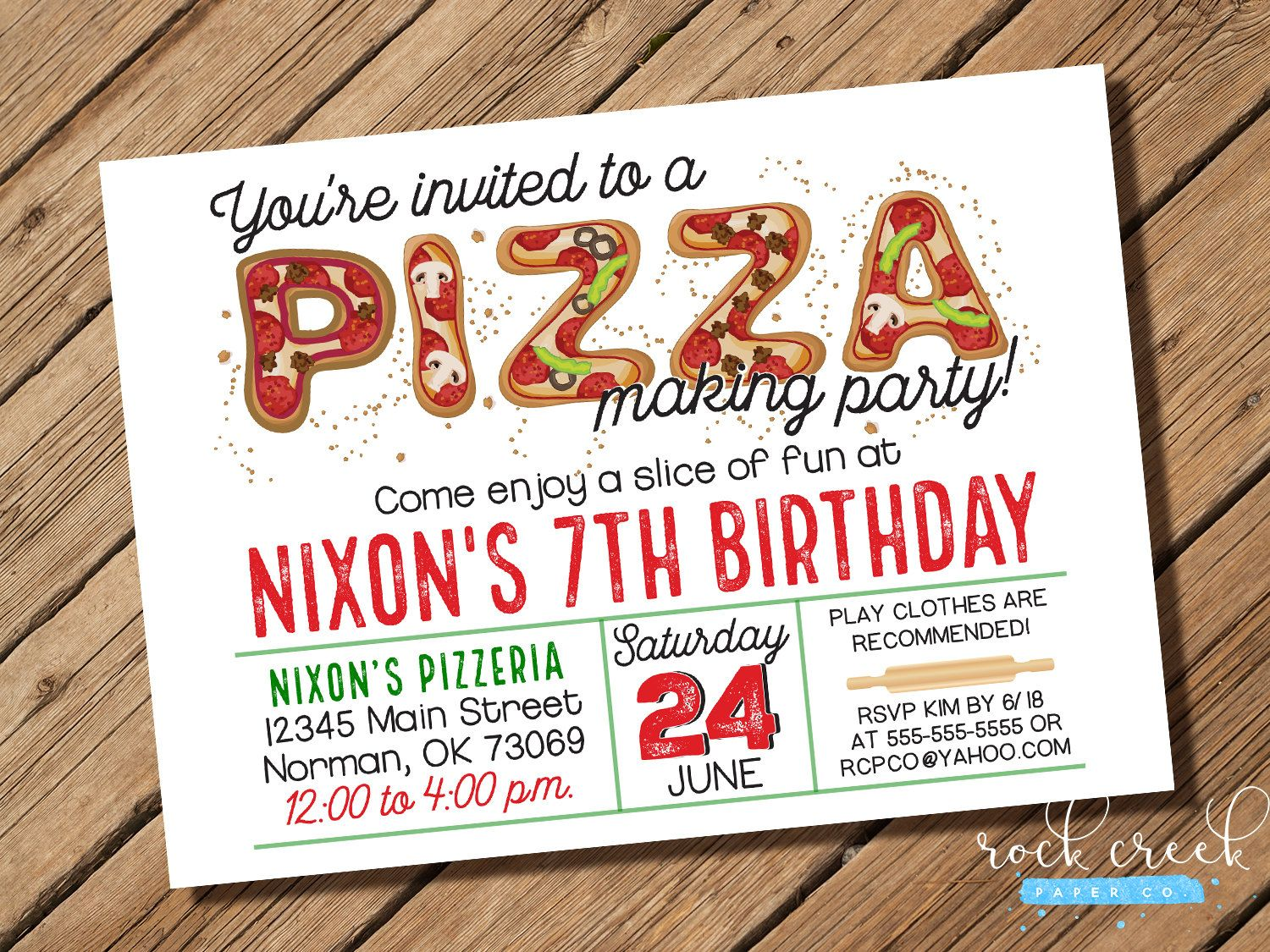 Pizza party invitation pizzeria party pizza making invitation pizza party invitation pizzeria party pizza making invitation pizza letters invitation printable thecheapjerseys Choice Image