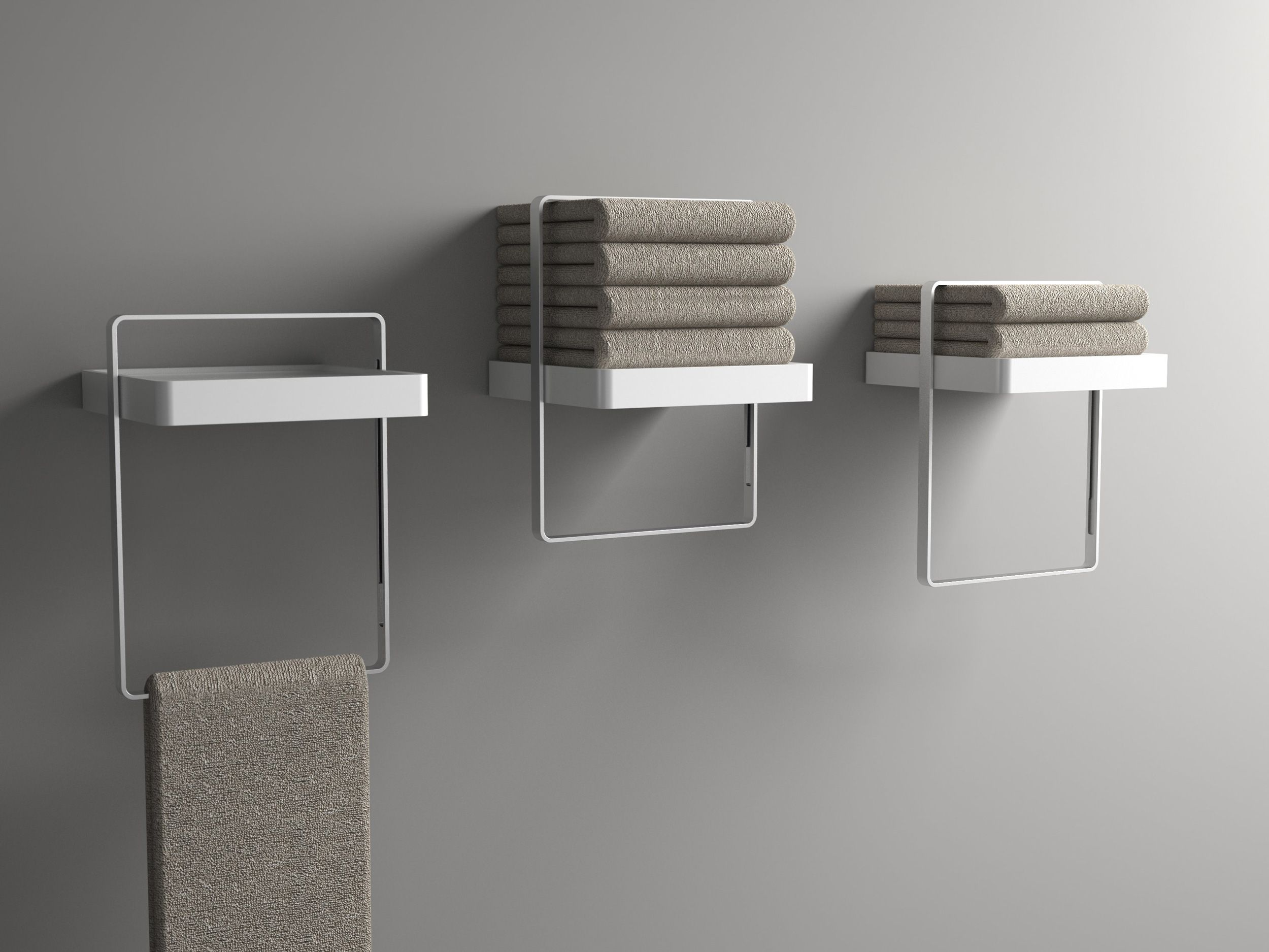 Slide bathroom towel bar for Agape designed by Cory Grosser