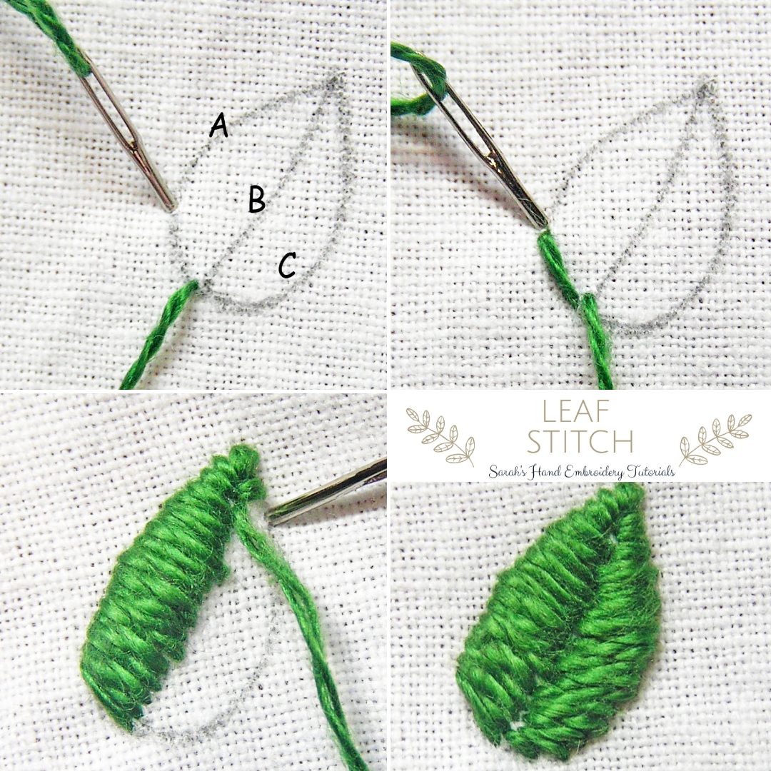 Leaf Stitch   Sarah's Hand Embroidery Tutorials   Sewing ...