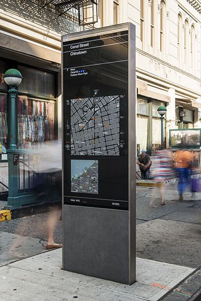 NYC Wayfinding The Kiosks Present Two Maps, One Of Local