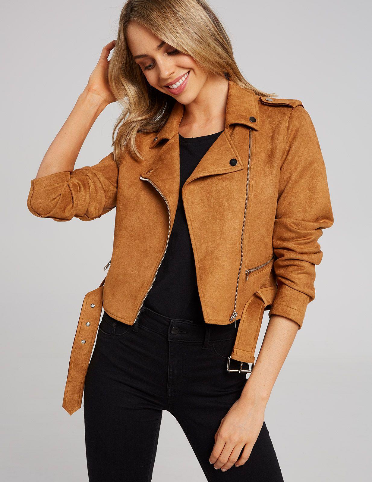 6c6d3db62 Austin Suedette Biker Jacket | Dotti | coloured leather jackets ...