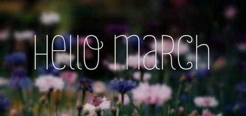 Hello March, and a giveaway winner!