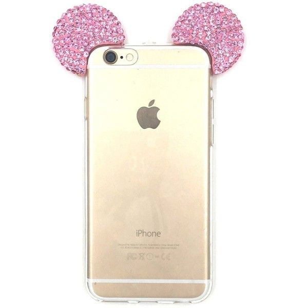 iPhone 6S Plus Case, MC Fashion Flexible Mickey Mouse 3D Bling Crystal... (£7.64) ❤ liked on Polyvore featuring accessories, tech accessories and phones