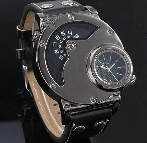 f69e7eddca1 Relógio Militar Oulm Russo Preto Caixa Grande Frete Grats - R  84