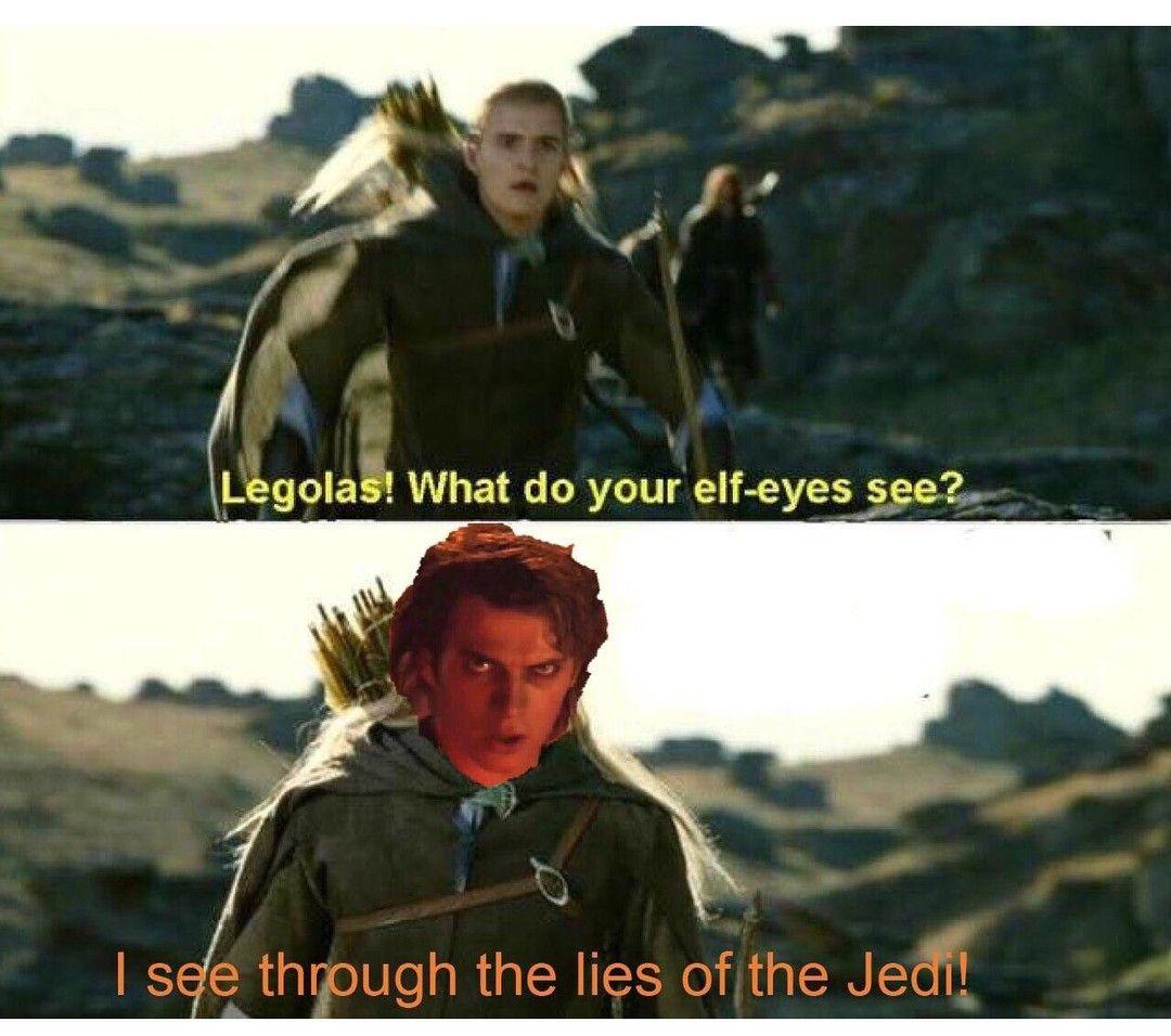 Lord Of The Rings Star Wars Star Wars Facts Star Wars Memes Star Wars Humor