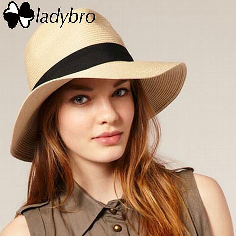 Summer Hats For Women Part - 50: Ladybro Hot 2017 Fashion Summer Beach Hat Large Brim Jazz Sun Hat Casual  Unisex Panama Hat