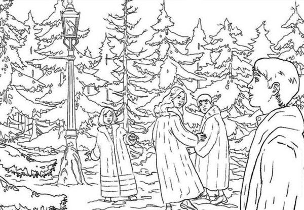 Chronicles Of Narnia Enter The Narnia World Chronicles Of Narnia Coloring Page Coloring Pages Forest Coloring Pages Narnia