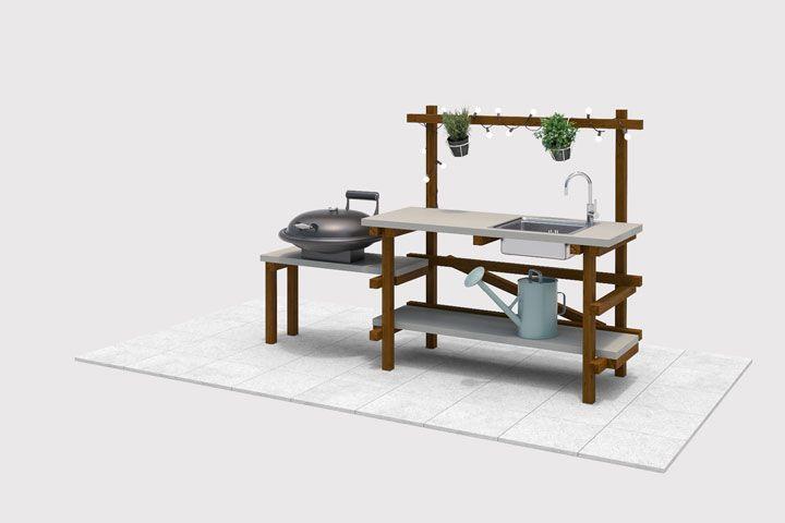 Outdoorküche Garten Obi : Outdoorküche alfons selber bauen gartenmöbel balkon