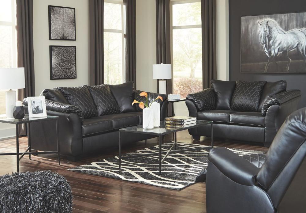 Best Ashley Betrillo Black Sofa Couch Loveseat Rocker Recliner Augeron Table Set Black Living 400 x 300