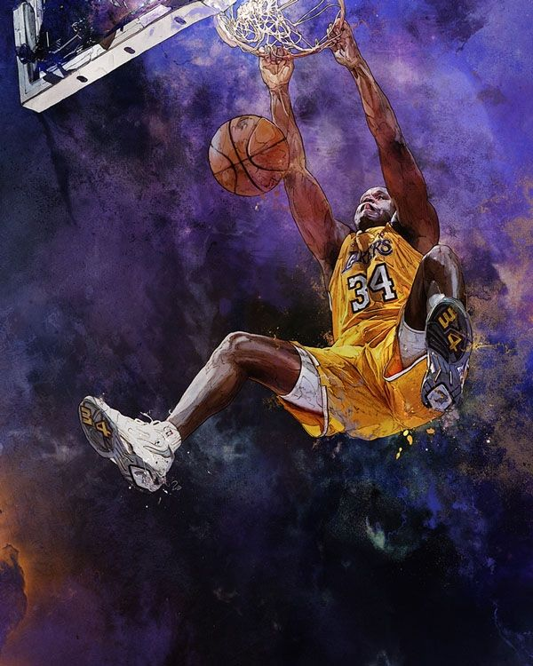 Lakers Shaquille O Neal By Krzysztof Domaradski Sports
