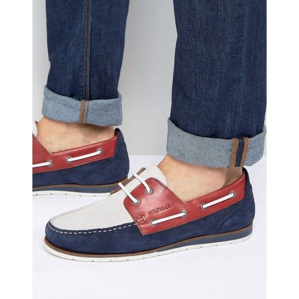 Tommy Hilfiger Coast Boat Shoes (£115) ❤ liked on Polyvore featuring men s  fashion, men s shoes, men s loafers, navy, mens leather boat shoes, ... 0cb1dfccd89b