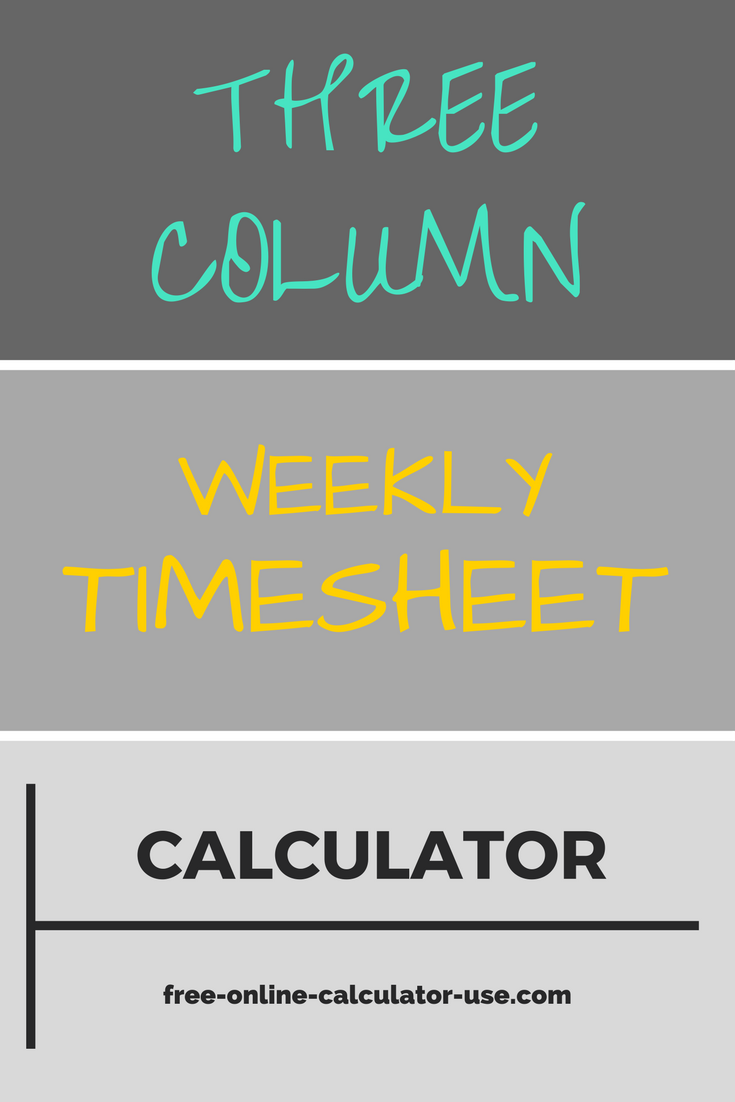 save time totaling up employee work hours with this fast user friendly weekly time sheet calculator that accommodates up to two unpaid breaks per day