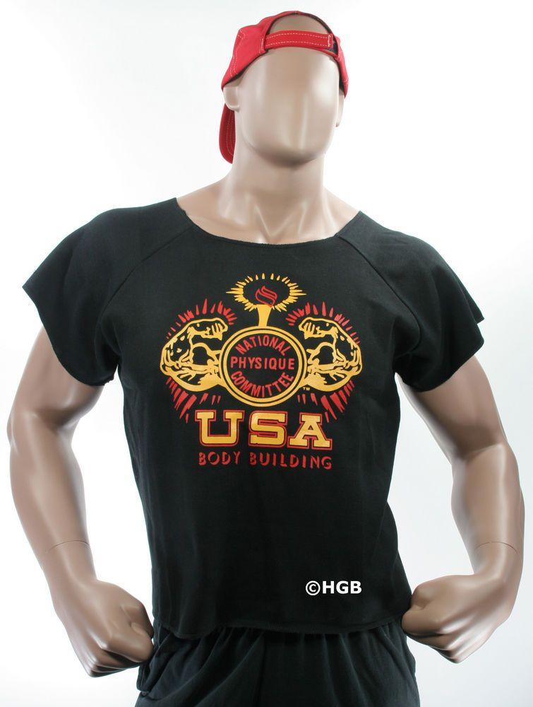 Mens Workout NPC Bodybuilding Wear Muscle Rag Top Gym