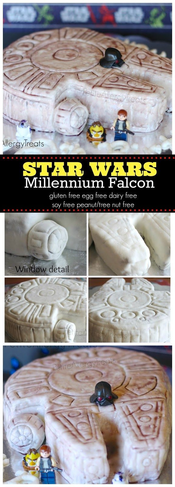 STAR WARS Ship CakeThis Millennium falcon cake will please any Star
