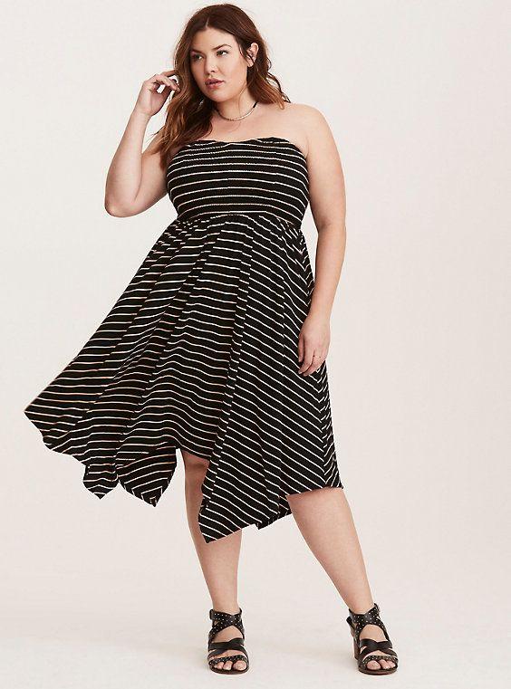 Striped Smocked Handkerchief Tube Dress Pinterest