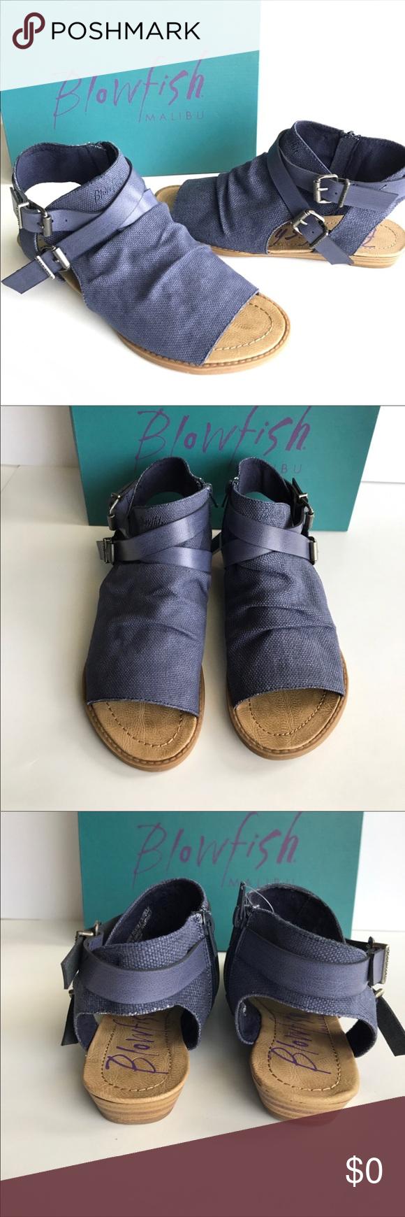 b7f1c46645bd BLOWFISH Brand New! Brisa Indigo Rancher Sandal BRAND NEW IN BOX! Trendy  and beautiful