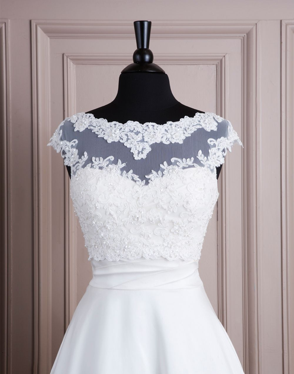 Lillian West wedding accessories style A061 Lace and tulle jacket ...