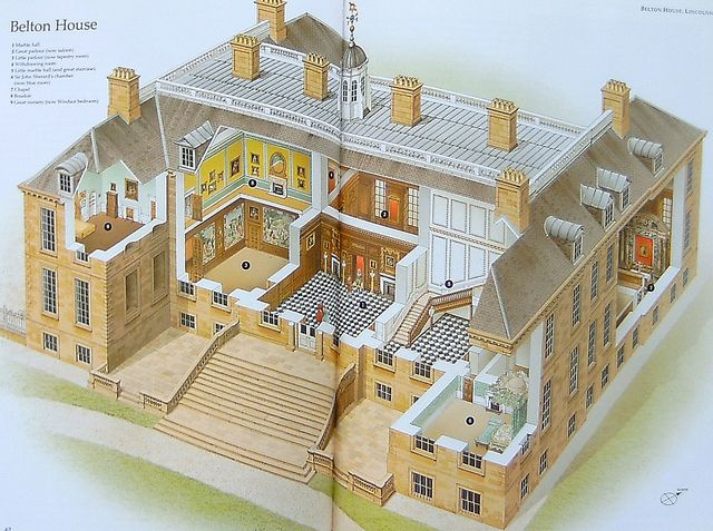 Belton House English Country House Plans Belton House English Country House