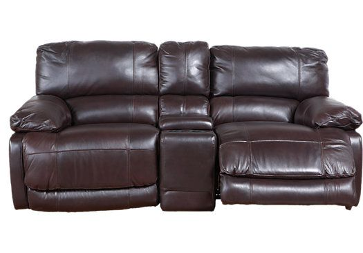 Swell Cindy Crawford Home Auburn Hills Brown Leather Reclining Caraccident5 Cool Chair Designs And Ideas Caraccident5Info