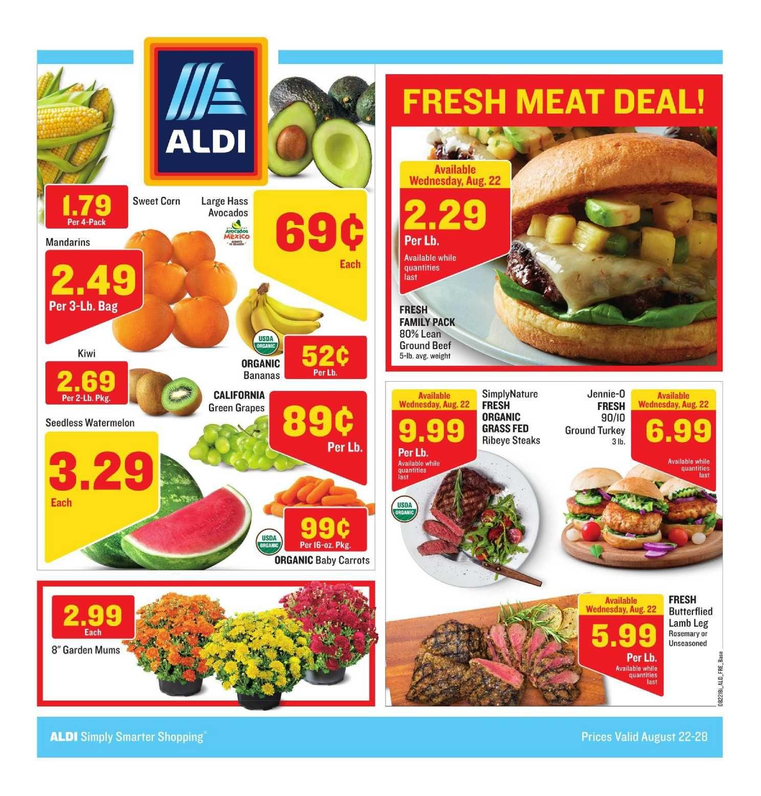 Aldi Weekly Ad Flyer September 25 October 1 2019 Weeklyad123 Com Weekly Ad Circular Grocery Stores Fresh Meat Bakery Menu Aldi