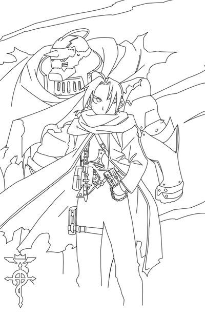 Full metal alchemist lineart by crypticriddlers on deviantart