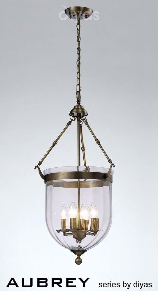 Suspension Aubrey 3 ampoules en laiton et verre
