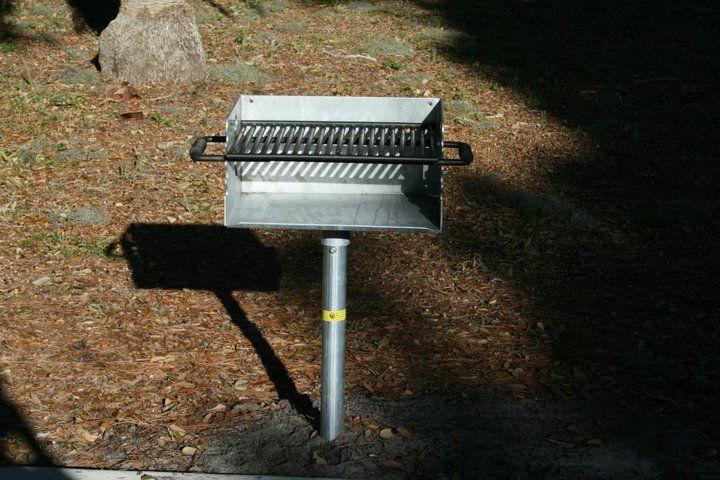 John Nolen Park sports a charcoal grill to enhance the picnic area.