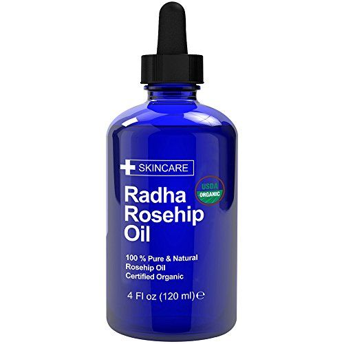 Radha Beauty Usda Certified Organic Rosehip Oil 4 Oz 100 Pure Amp Cold Pressed Best Facial