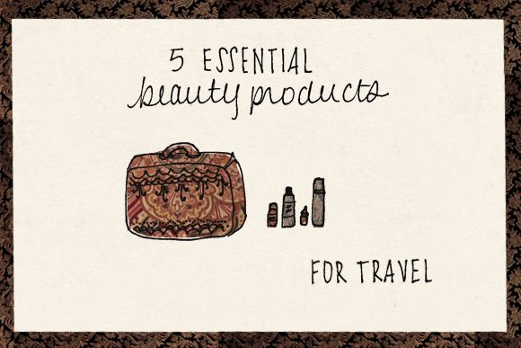 5 Essential Beauty Products For Travel http://blog.freepeople.com/2012/12/5-essential-beauty-products-travel/