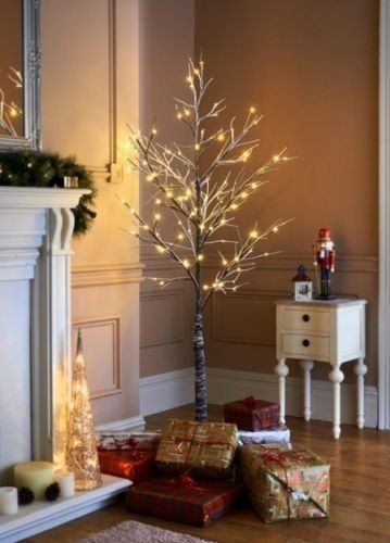 Love This Gorgeous 7ft Pre Lit Snowy Twig Style Christmas Tree It Can Be Used Indoors Or Out Arbol De Navidad Navidad Arboles