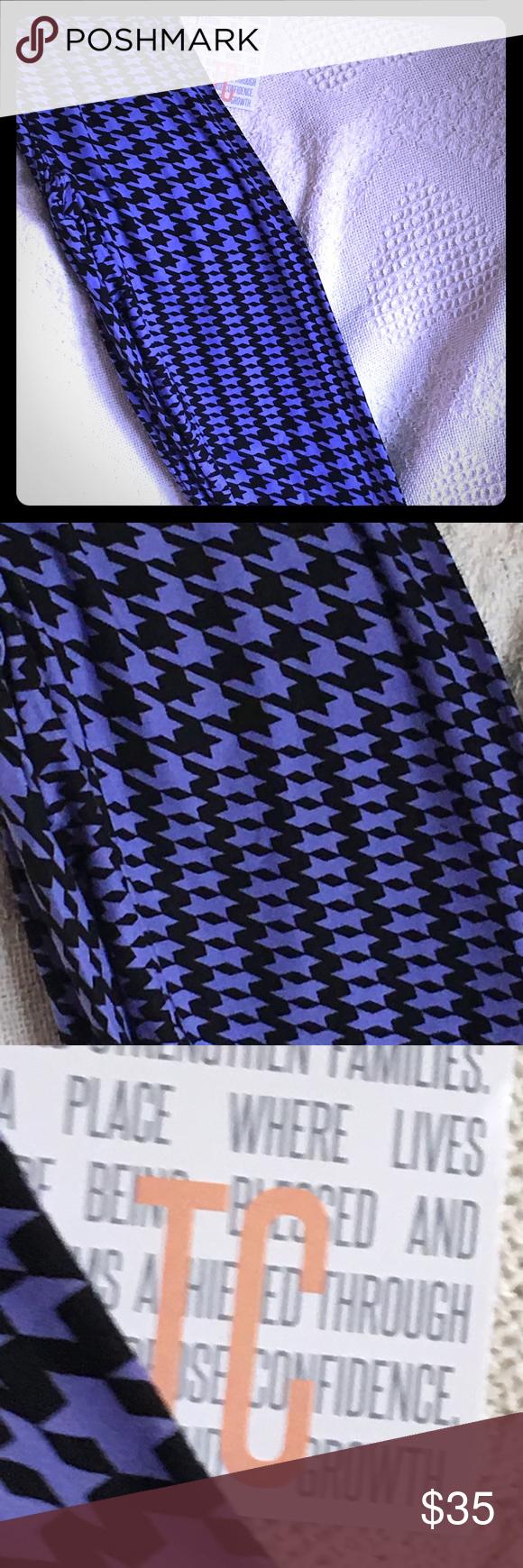 6fcc764b5ce5ac Lularoe Leggings TC New LLR TC houndstooth burpee color. (Between a blue  and purple). NWT LuLaRoe Pants Leggings