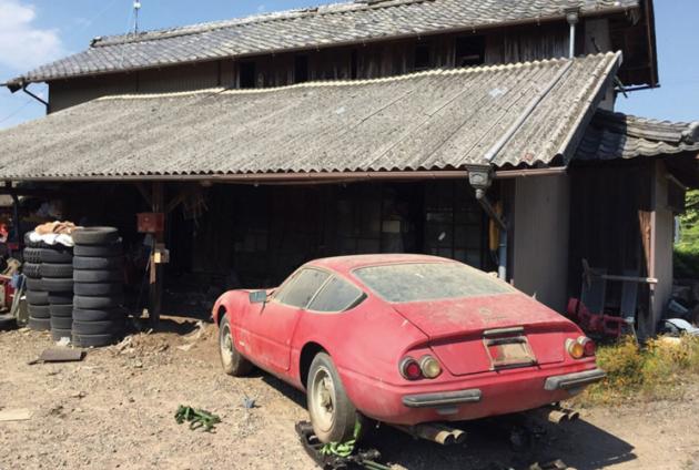 One Of One Japan Found Ferrari Daytona Alloy Abandoned Cars Ferrari Barn Finds