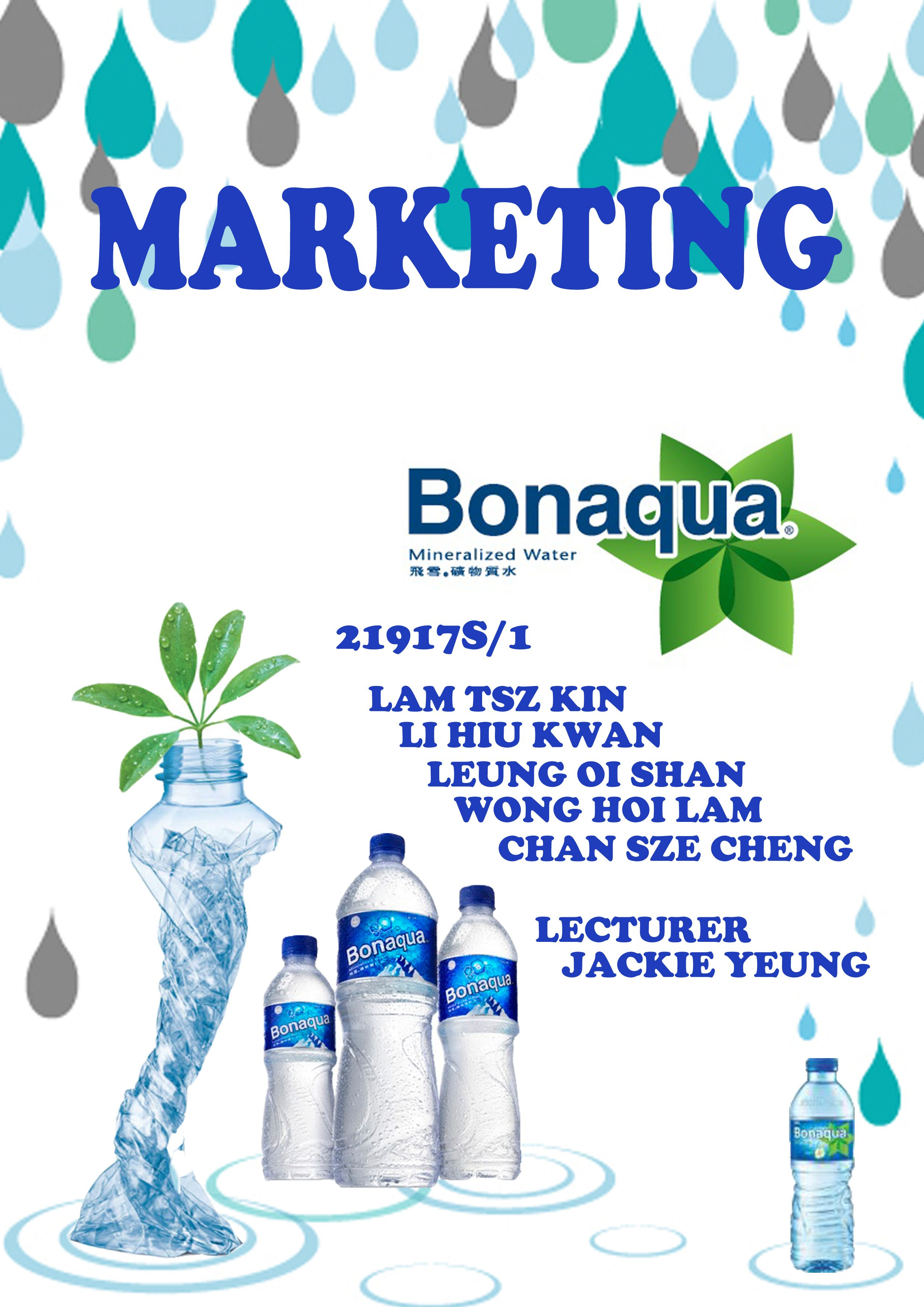 cover page of marketing project
