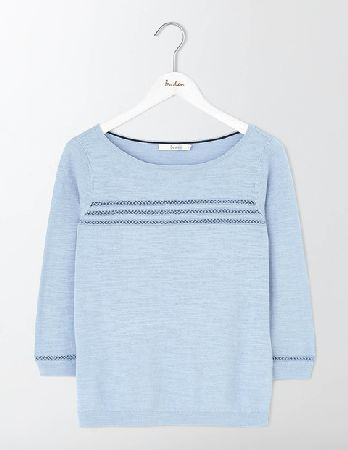 aef8f7fd #Boden Ava Jumper Powder Blue Women Boden, Powder Blue #This semi-fitted  jumper makes an ideal companion for long walks on breezy beaches.
