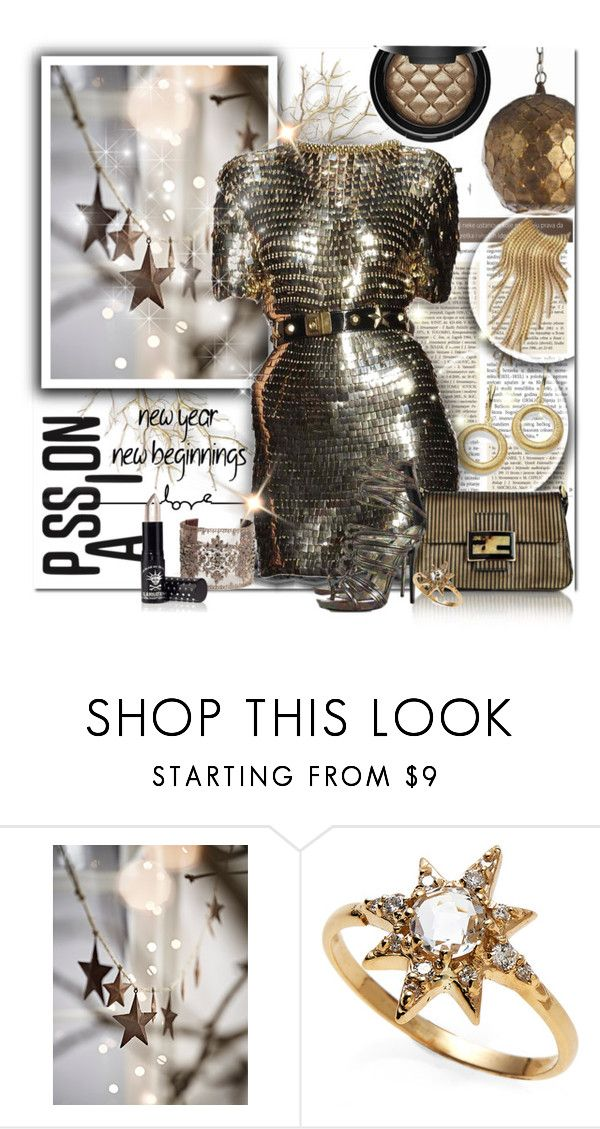"""Passion for The New Year"" by wanda-india-acosta ❤ liked on Polyvore featuring Gaetano Navarra, Chan Luu, Alexander McQueen and Anzie"