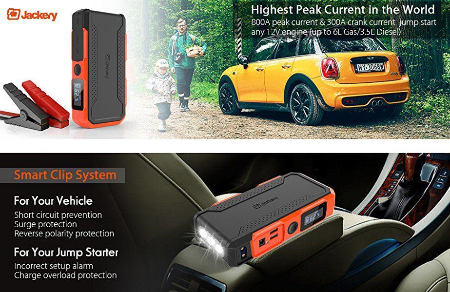 AmazonSmile Car Jump Starter Jackery New Spark 800A Peak