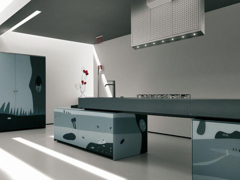 Cocina integral de vidrio decorado ARTEMATICA VITRUM ARTE by ...